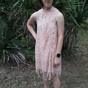 Victorian Look Pink Lace Dress